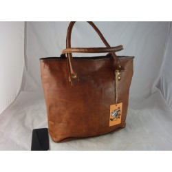 "ZTz15 -  Handmade Ladies 15""  Leather Tote Bag"