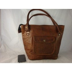 "JTP15 -  Handmade Ladies 15""  Leather Tote Bag"