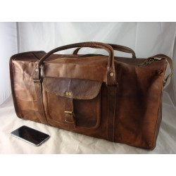 "JD22 - 22""  Leather Travel Bag / Duffel Bag"