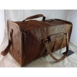"JD24  - 24"" Leather Travel Bag / Duffel Bag"