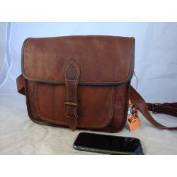 "JSP11 -  11""   Leather  Satchel with large pocket"