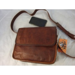 "JS11 -  11""  Leather Half Flap Satchel"
