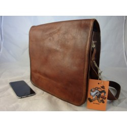 "JF11 -  11""  Leather Full Flap Satchel"
