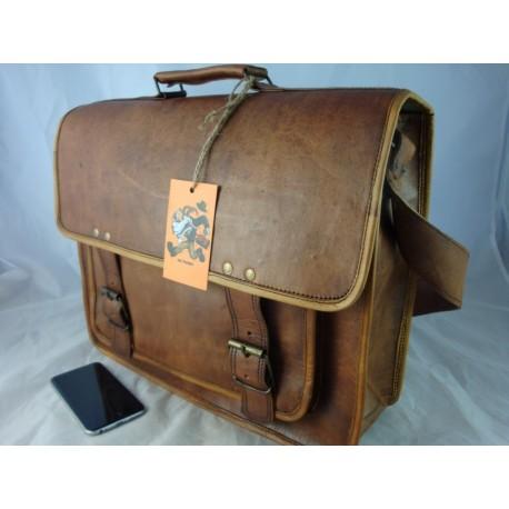"""XBLP16 -  16"""" Deluxe Laptop Satchel Briefcase"""