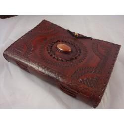 "8"" Handmade Leather Journal, Sketchbook, Notebook"