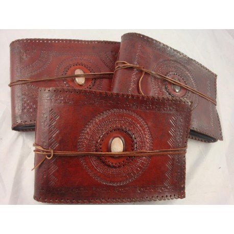 handmade leather bound photograph album vagabond travel gear