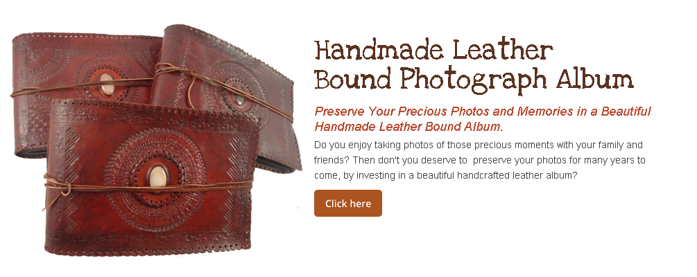 Handmade Leather Bound Photograph Album